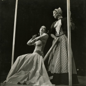 Martha Graham performs in the ballet, Appalachian Spring, NYC, 1944