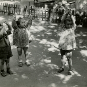 Children playing nursery games