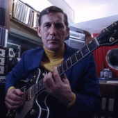 Chet Atkins with guitar, Nashville, TN, 1968