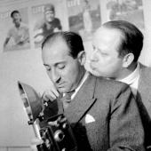 Alfred Eisenstaedt and George Karger at PIX agency