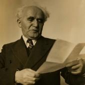 David Ben Gurion, Israeli Prime Minister,1948