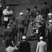 Robert Kennedy at Russia vs USA track meet, Los Angeles, CA 1964